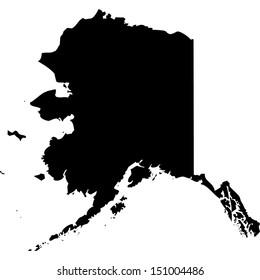 High detailed vector map - Alaska