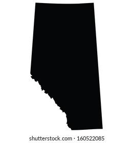 High detailed vector map - Alberta