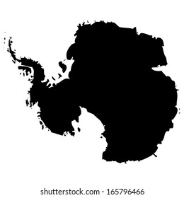 High detailed vector map - Antarctica