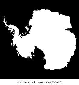 High detailed vector map - Antartica
