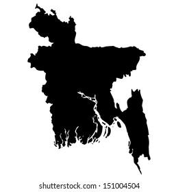 High detailed vector map - Bangladesh