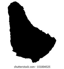 High detailed vector map - Barbados