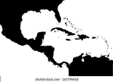 High detailed vector map - Central America