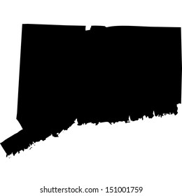 High detailed vector map - Connecticut