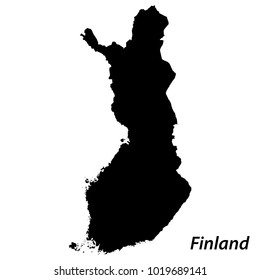 High detailed vector map with contour - Finland