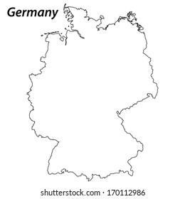 Bilder Stockfotos Und Vektorgrafiken Deutschland Karte Umriss