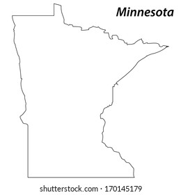 High detailed vector map with contour - Minnesota
