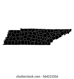 Tennessee Map With Counties Images Stock Photos Vectors