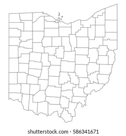 Outline Map Of Ohio.Ohio Map Images Stock Photos Vectors Shutterstock