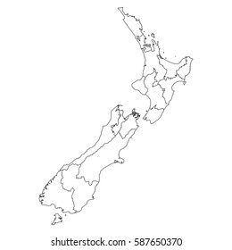 Map New Zealand Regions.Imagenes Fotos De Stock Y Vectores Sobre New Zealand Map Regions