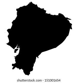 High detailed vector map - Ecuador