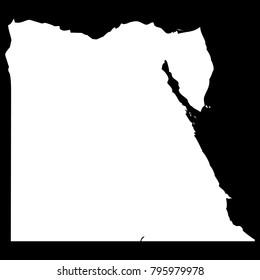 High detailed vector map - Egypt