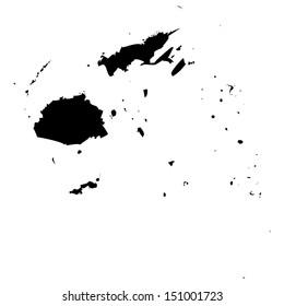 High detailed vector map - Fiji