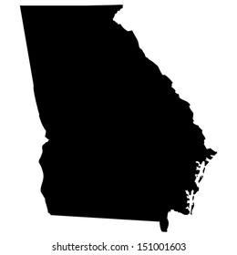 High detailed vector map - Georgia