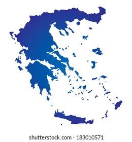 High detailed vector map Greece