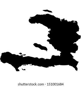 High detailed vector map - Haiti