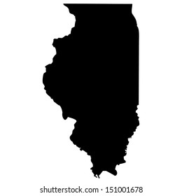 High detailed vector map - Illinois