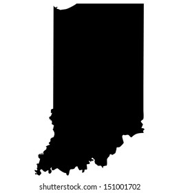 High detailed vector map - Indiana