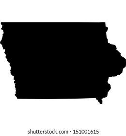 High detailed vector map - Iowa
