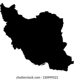 High detailed vector map - Iran