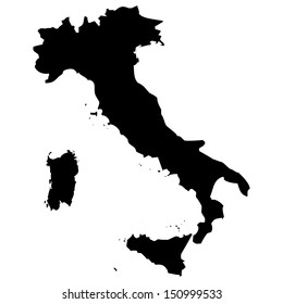 High detailed vector map - Italy