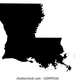 High detailed vector map - Louisiana