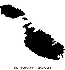 High detailed vector map - Malta
