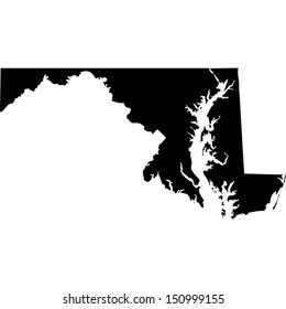 High detailed vector map - Maryland