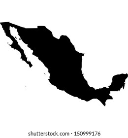 High detailed vector map - Mexico