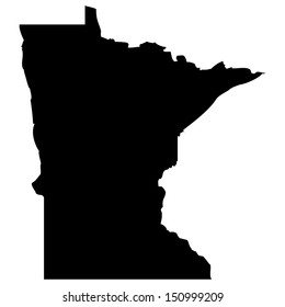 High detailed vector map - Minnesota