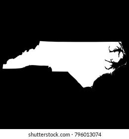 High detailed vector map - North Carolina