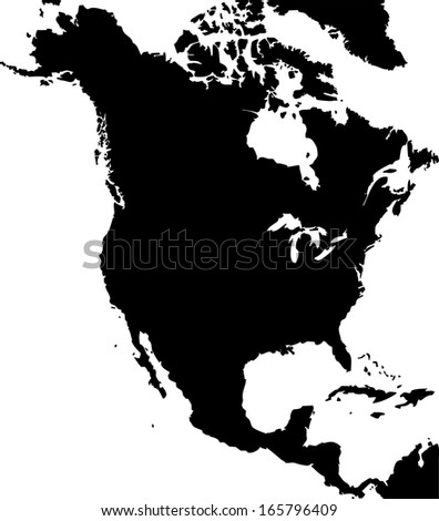 Free Vector Map Of North America.High Detailed Vector Map North America Stock Vector Royalty Free