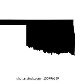 High detailed vector map - Oklahoma