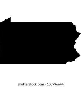 High detailed vector map - Pennsylvania