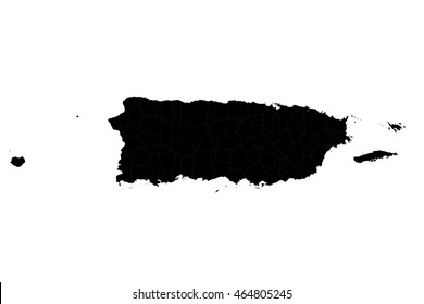 High detailed vector map puerto Rico