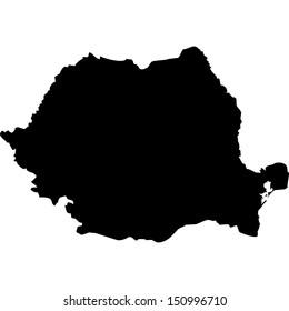 High detailed vector map - Romania