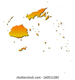High detailed vector map with shadow in separated layer - Fiji
