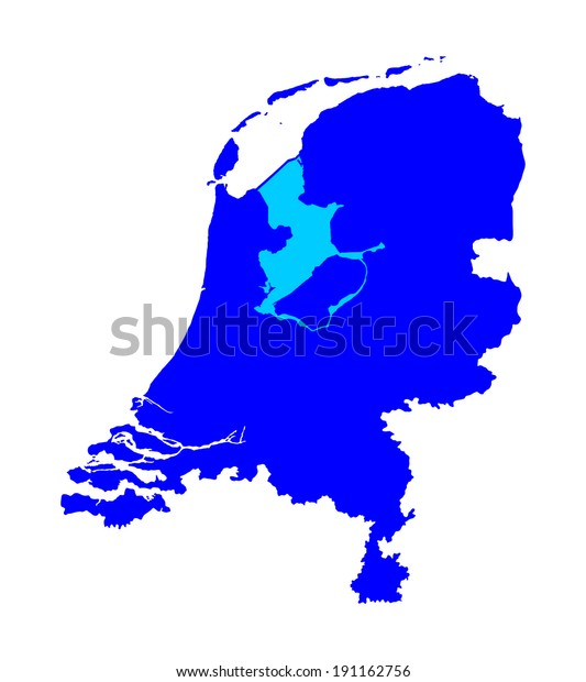 High Detailed Vector Map Silhouette Netherlands Stock ...