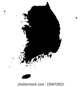 High detailed vector map - South Korea