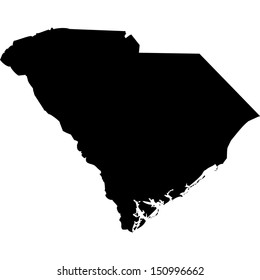 High detailed vector map - South Carolina