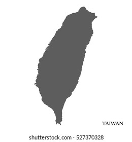 High detailed vector map of Taiwan