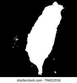 High detailed vector map - Taiwan