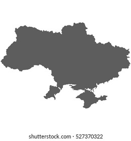 High detailed vector map of Ukraine