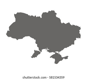 High detailed vector map - UKraine