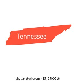 High detailed vector map - United States of America. Map with state boundaries. Tennessee vector map silhouette