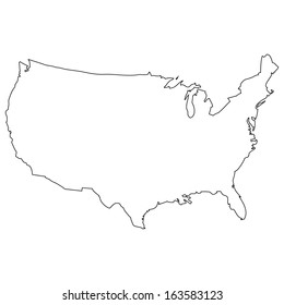 High detailed vector map - United States