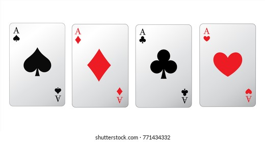 High Detailed vector Poker isolated on white background. Vector eps 10.