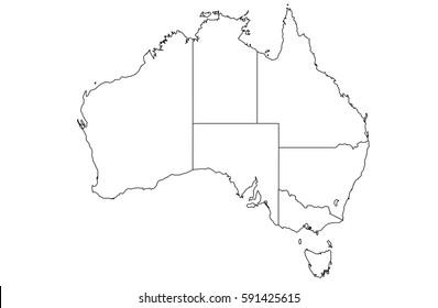 High detailed White vector map – Australia