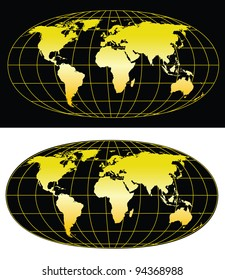 High detailed world map 5000x5774. Vector eps8. Separate layers