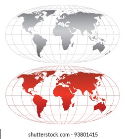 High detailed world map. Vector eps8. Separate layers